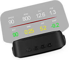Car HUD Display, OBD+GPS Head Up Display High
