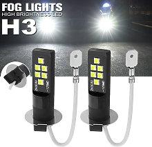 Car LED Fog lights 80W Pair Headlight Bulbs H3 LED