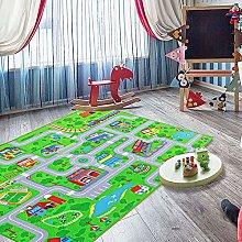 Car play rug for kids City Street Map Kids'
