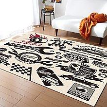 Car Poster Carpet for Living Room Home Bedroom