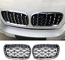 Car Silver Front Center Grille Grill, Replacement