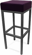 Cara Black Steel Square Stool Fixed Height Frame 3