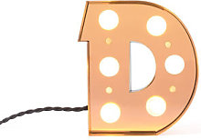 Caractère Table lamp - / Wall light - Letter D -