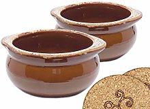 Caramel 12 Ounce Onion Soup Bowls - Classic
