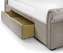 Caravegio 2 Drawer Storage Bed 135Cm MINK CHENILLE