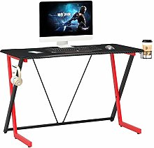 Carbon Fibre Effect Computer and Gaming Desk for
