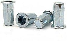 Carbon Steel Flat Head hex Rivet nut Sealed Close