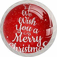 Card with Merry Christmas Drawer Knob Pull Handle