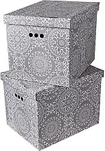 Cardboard Storage Boxes with Lid | Decorative