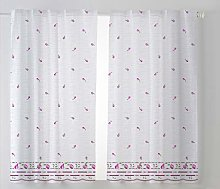 Cardenal Textile Kitchen Curtain Pack 2 100 x 140