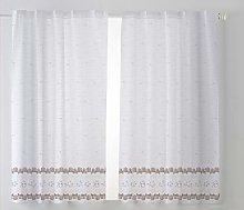 Cardenal Textile Tamara Curtain Kitchen Curtain,