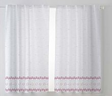 Cardenal Textile Tamara Kitchen Curtain, Purple,