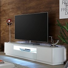 Cardinal Modern TV Stand In Matt White With 2
