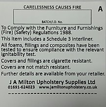 Carelessness Causes Fire - Sew In label 100