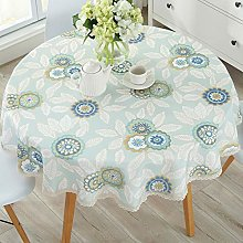 CAREXY Tablecloth Round,Cotton Linen Lace