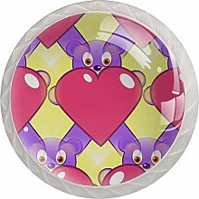 Caring Rabbit 4 Pack Glass Drawer Knobs- Round