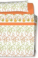 CARLA RUBINI Knots Bedding Set, Microfibre, Orange