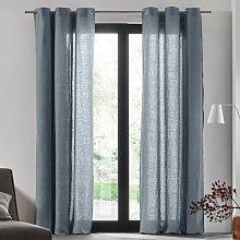 Carlina Eyelet Semi-Sheer Door Curtain Madura