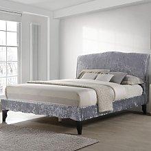 Carlo Crushed Velvet Upholstered Bed Frame Rosdorf