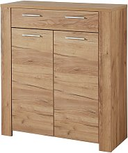 Carlton Shoe Storage Cabinet In Navarra Oak With 2