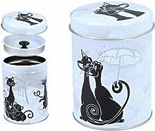 CARMANI - Sweety Kitty Printed Small Metal Tin Tea