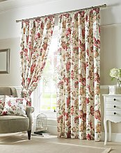 Carnaby Lined Pencil Pleat Curtains - 117x183cm -