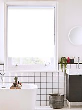 Carnation White Bathroom Roller Blind