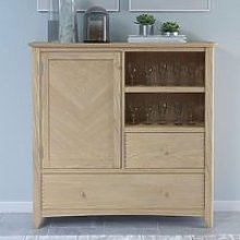 Carnial Wooden Large Drinks Store Cabinet In Blond