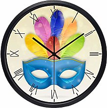 Carnival feather Wall Clock The New Home