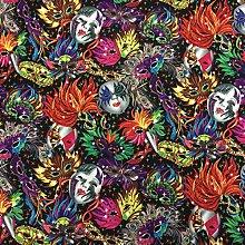 Carnival Mardi Gras 100% Cotton Multi Coloured