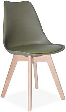 Carol Dining Chair Isabelline Colour: Olive Green