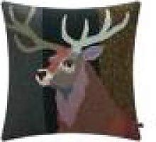 Carola van Dyke - Red Stag Cushion - 60x60cm