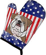 Caroline's Treasures American Flag and English