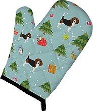 Caroline's Treasures Christmas Beagle Oven