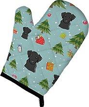 Caroline's Treasures Christmas Black Labrador