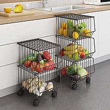 CarolynDesign 3 Tier Storage Basket Stand with