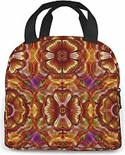 Carousel Mandala Lunch Bag Reusable Lunch Box