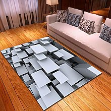 Carpet, 3D Cube Velvet Floor Carpet Fluffy Shaggy
