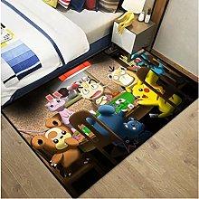 Carpet Anime Cartoon Pikachu Rectangular Rug