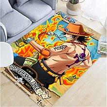 Carpet Anime One Piece Rug Cartoon Ace Living Room