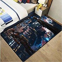 Carpet Batman Anime Dc Justice League Rug Living