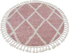 Carpet BERBER TROIK A0010 circle pink / white