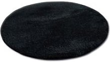 Carpet circle SHAGGY MICRO black Black round 100 cm