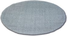 Carpet circle SHAGGY MICRO silver Shades of grey