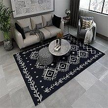Carpet desk rug Dark blue white simple geometric