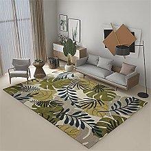 Carpet desk rug Green blue gray graffiti floral