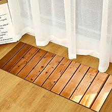 Carpet Entry Mat 3D Wood Pattern Door Mat Kitchen