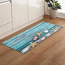 Carpet Entry Mat Beach Shell Print Kitchen Mat Non
