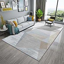 Carpet fireplace rug Blue gray simple geometric