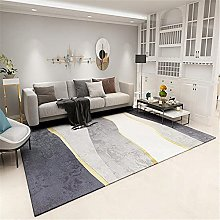 Carpet fireplace rug Gray yellow minimalist